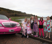Pink Limo For 9th Birthday