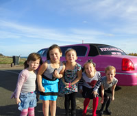 Kids Pink Party Limo