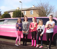 Pink Birthday Limo Edinburgh