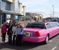 Pink Limo For Odeon cinema party