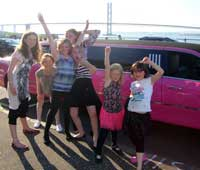 Pink Limo For 13TH Birthday